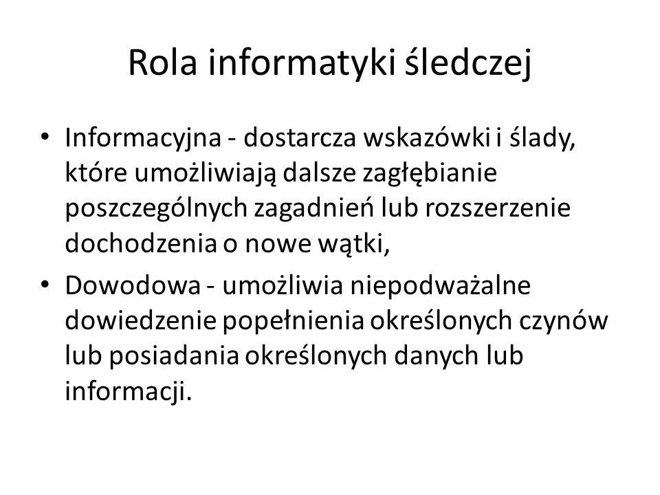 Rola informatyki śledczej