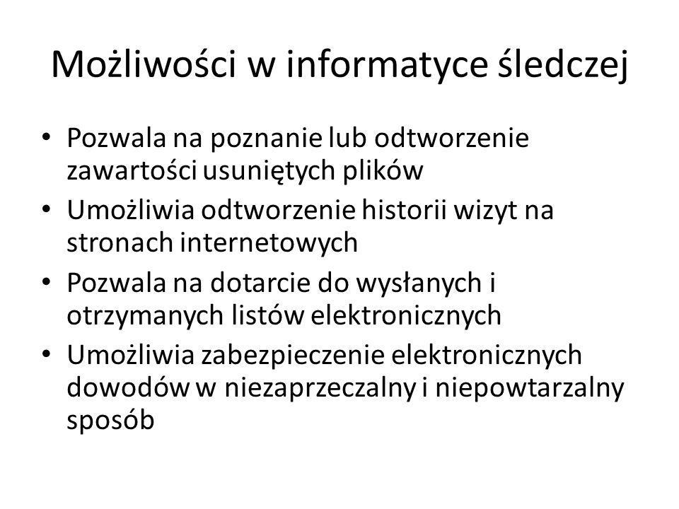 Możliwości w informatyce śledczej