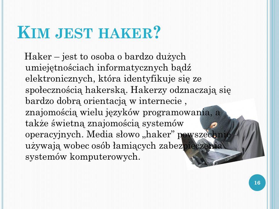Kim jest haker