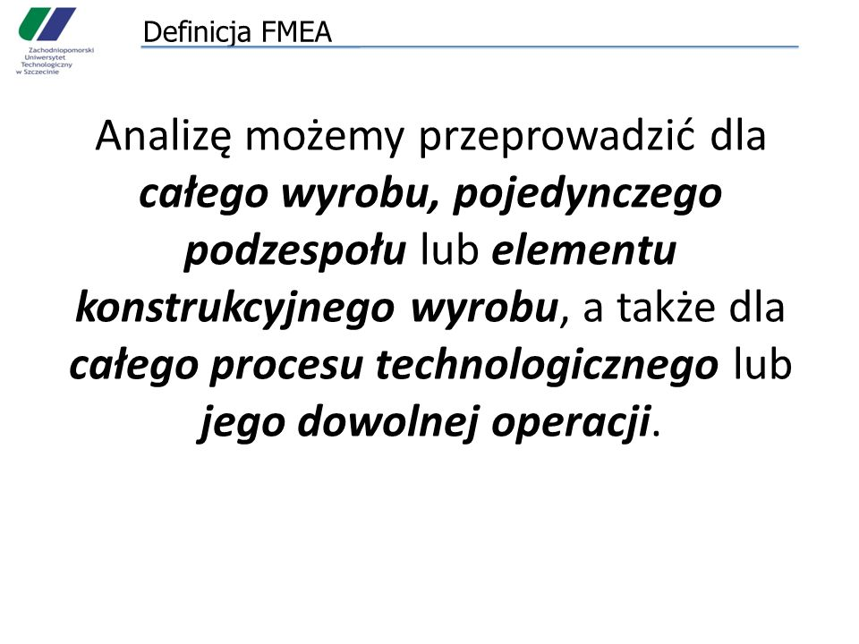 Definicja FMEA