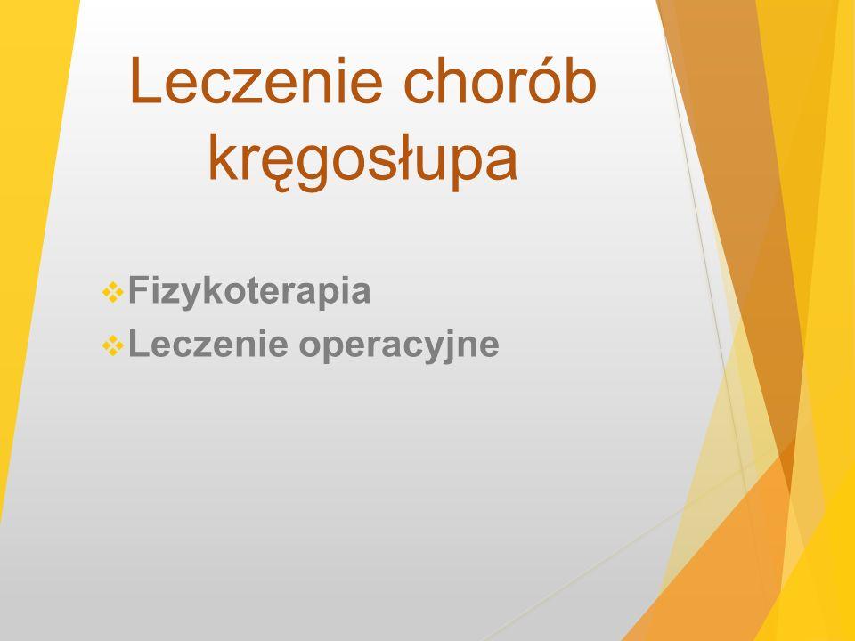 Leczenie chorób kręgosłupa