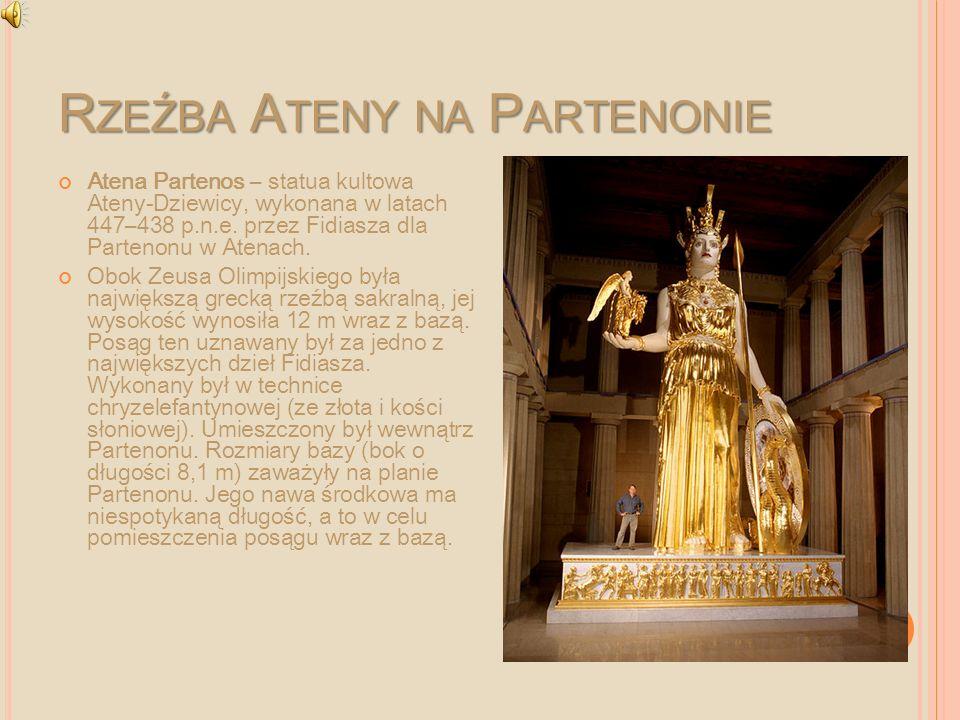 Rzeźba Ateny na Partenonie