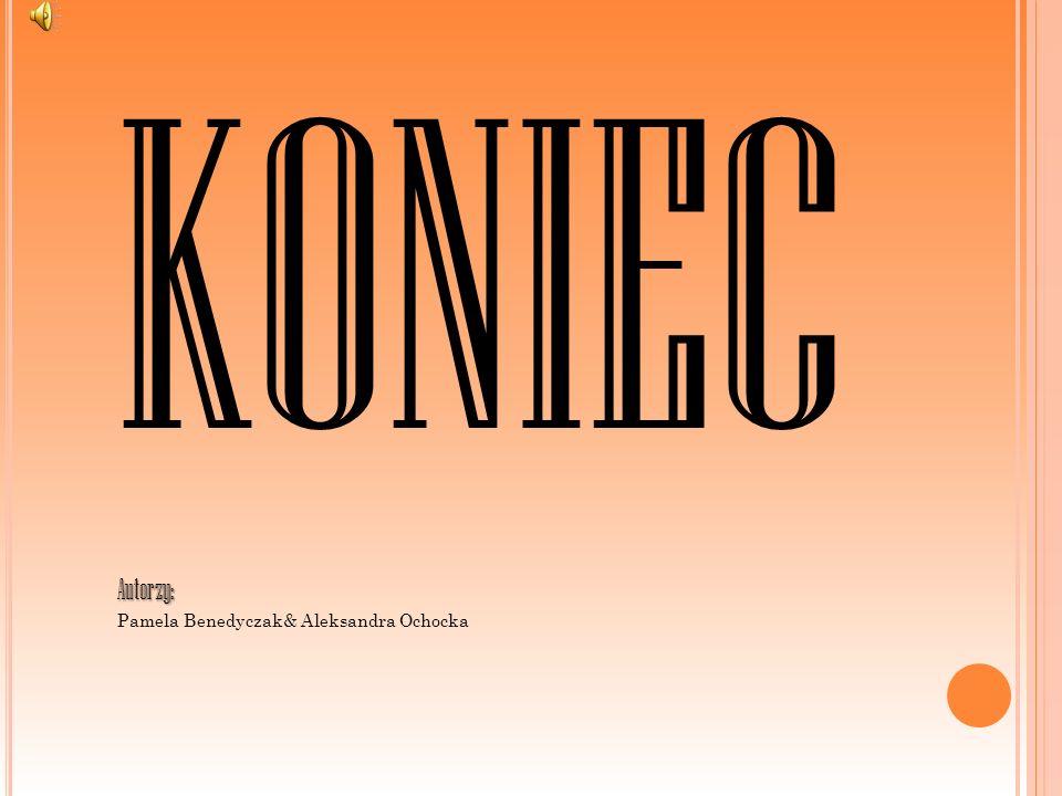 KONIEC Autorzy: Pamela Benedyczak& Aleksandra Ochocka