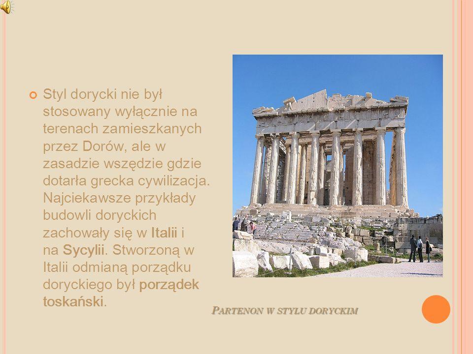 Partenon w stylu doryckim