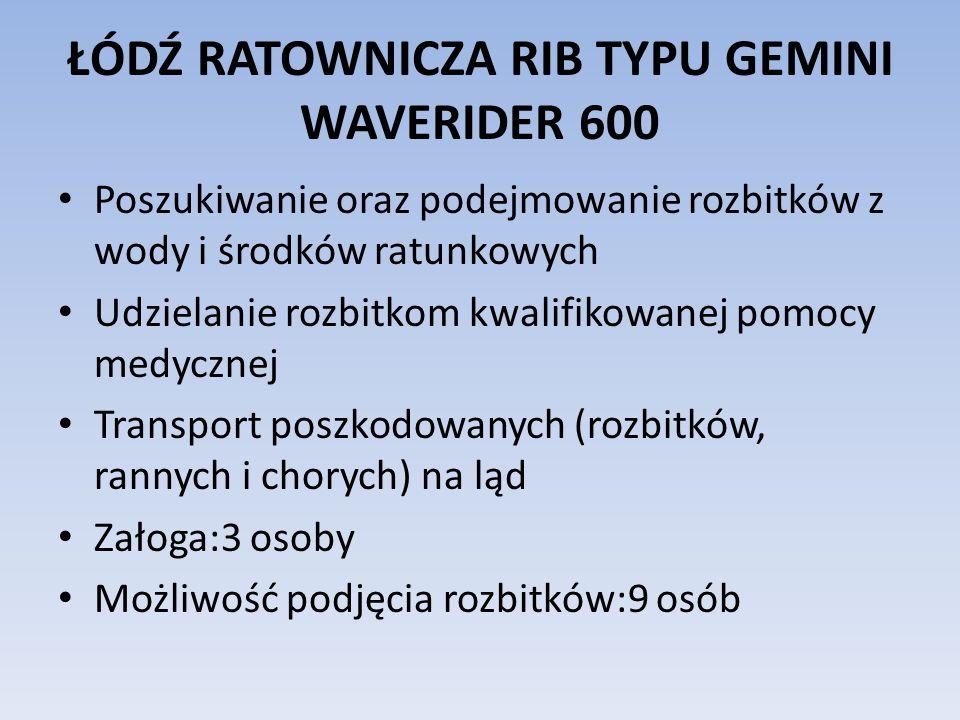 ŁÓDŹ RATOWNICZA RIB TYPU GEMINI WAVERIDER 600