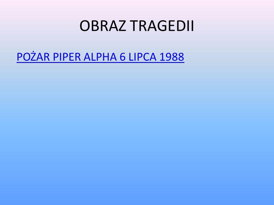 OBRAZ TRAGEDII POŻAR PIPER ALPHA 6 LIPCA 1988
