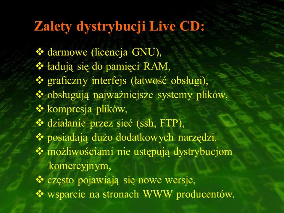 Zalety dystrybucji Live CD: