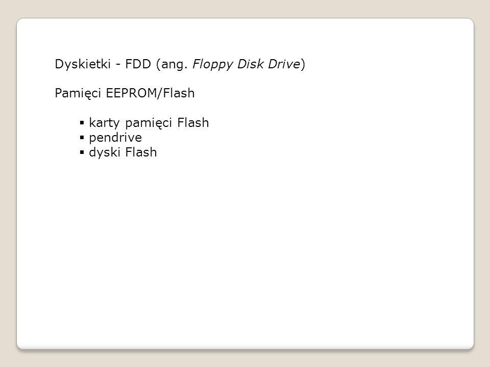 Dyskietki - FDD (ang. Floppy Disk Drive)