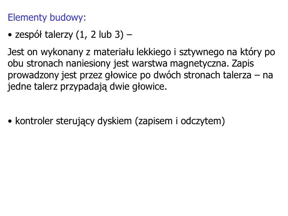 Elementy budowy: zespół talerzy (1, 2 lub 3) –