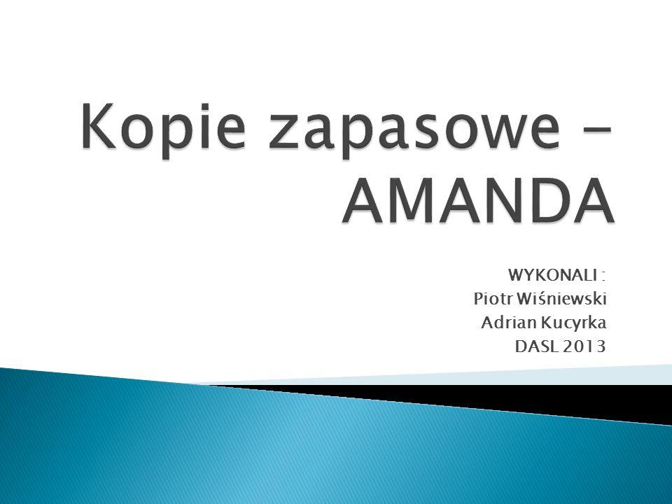 Kopie zapasowe - AMANDA