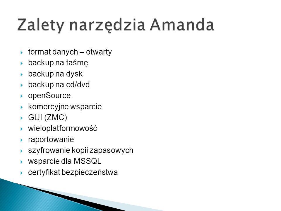 Zalety narzędzia Amanda