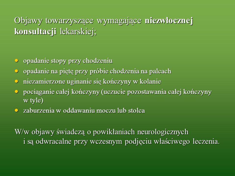 Objawy towarzyszące wymagające niezwłocznej konsultacji lekarskiej;