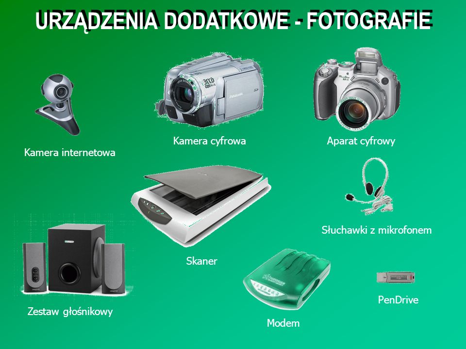 URZĄDZENIA DODATKOWE - FOTOGRAFIE