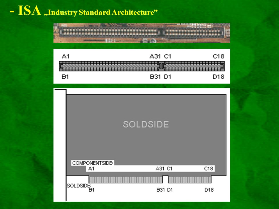 "- ISA ""Industry Standard Architecture"