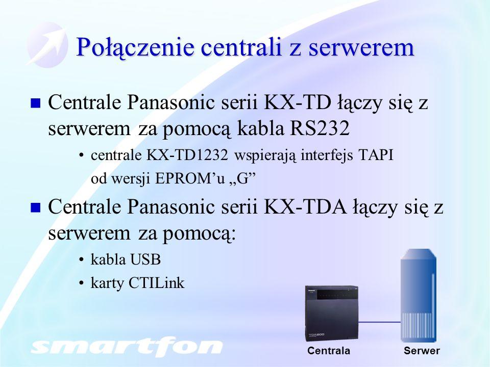 Połączenie centrali z serwerem