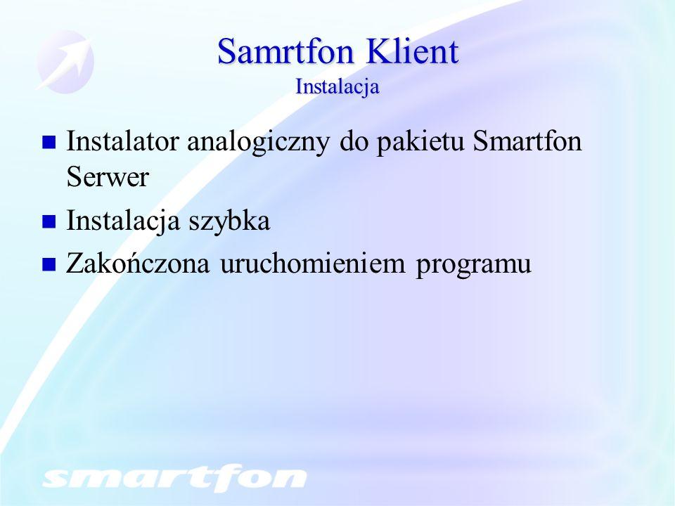 Samrtfon Klient Instalacja