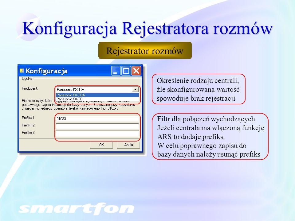 Konfiguracja Rejestratora rozmów