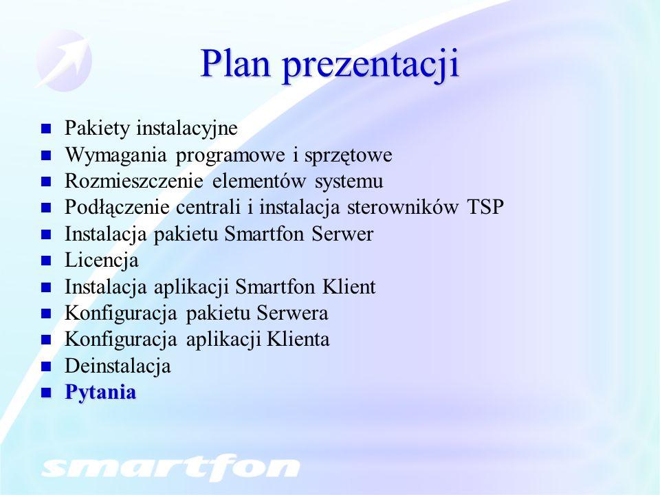 Plan prezentacji Pakiety instalacyjne Wymagania programowe i sprzętowe