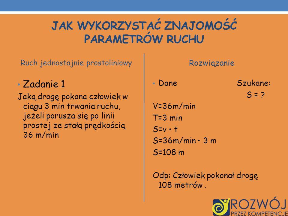 Jak wykorzystać znajomość parametrów ruchu