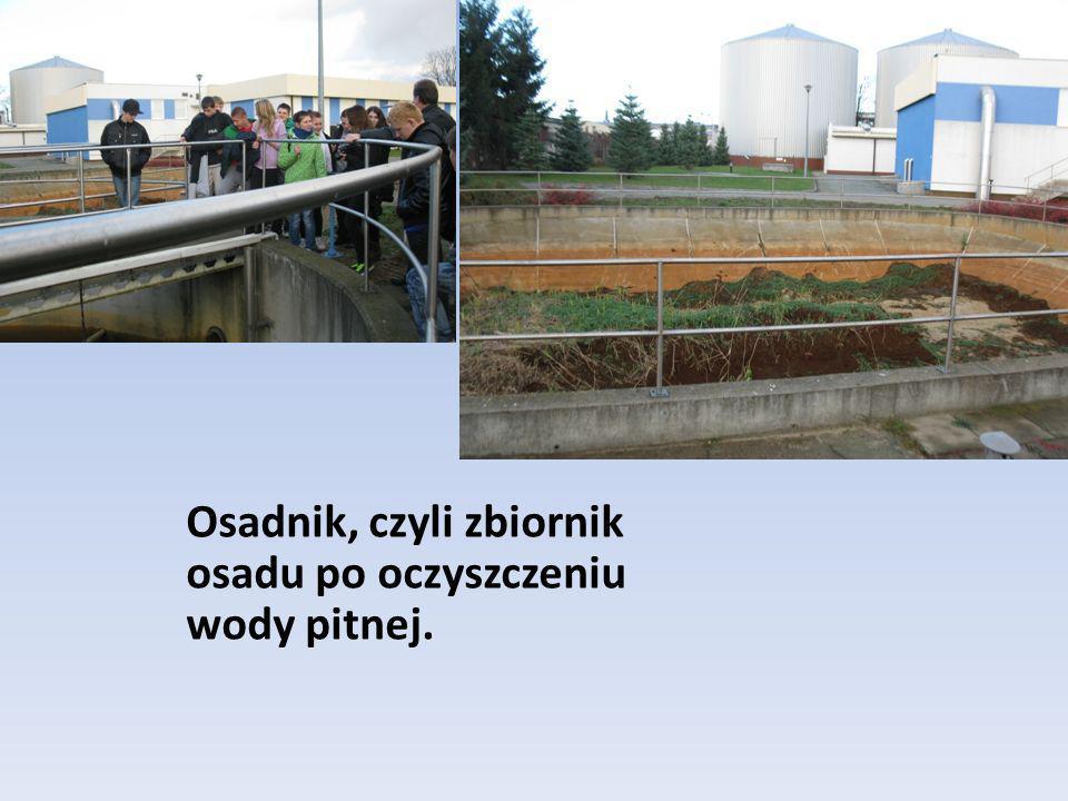 Osadnik, czyli zbiornik osadu po oczyszczeniu wody pitnej.