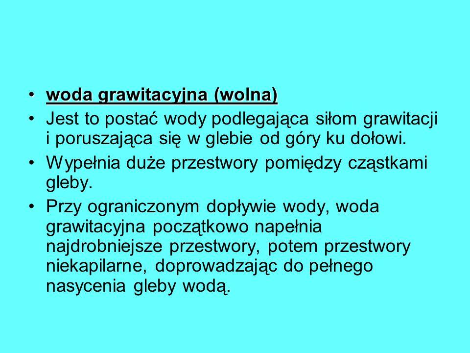 woda grawitacyjna (wolna)