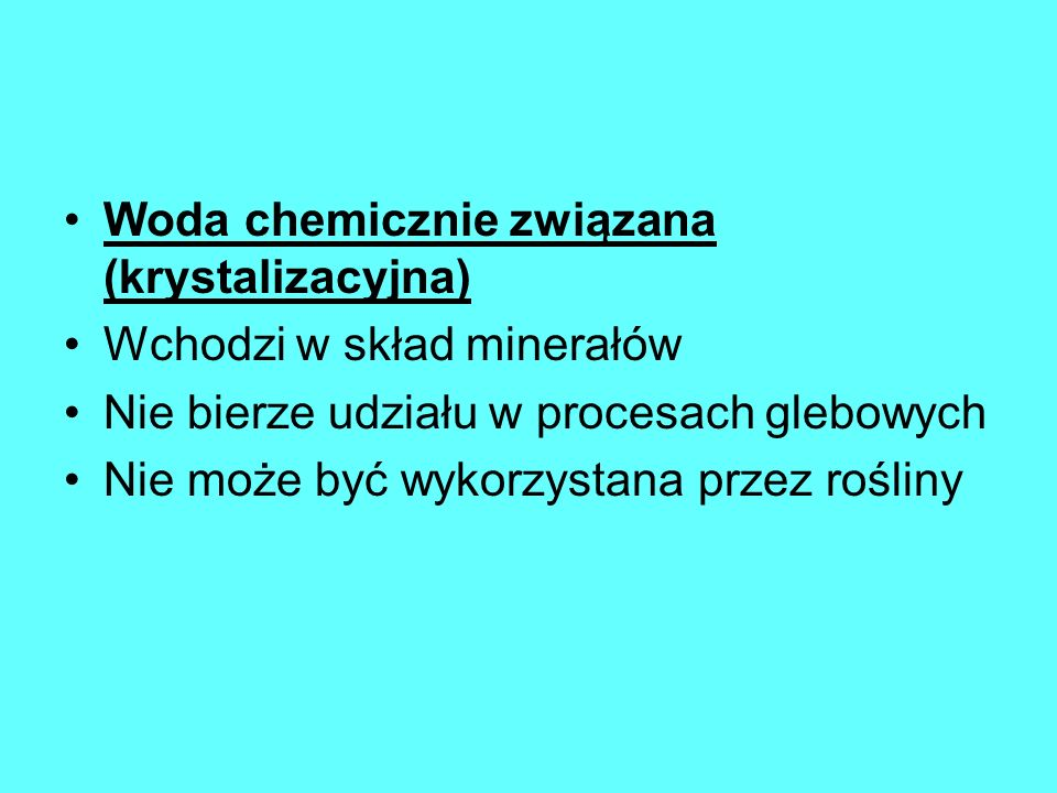 Woda chemicznie związana (krystalizacyjna)