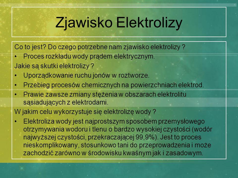 Zjawisko Elektrolizy Co to jest Do czego potrzebne nam zjawisko elektrolizy Proces rozkładu wody prądem elektrycznym.