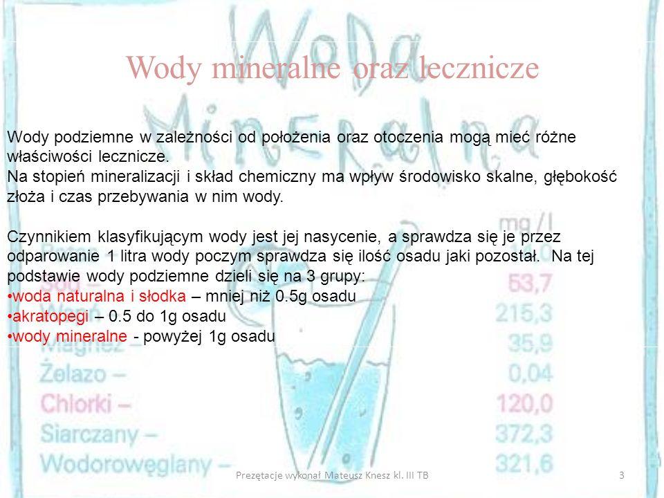 Wody mineralne oraz lecznicze