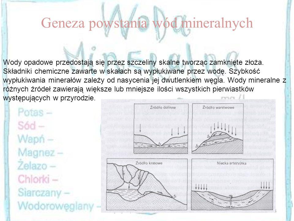 Geneza powstania wód mineralnych