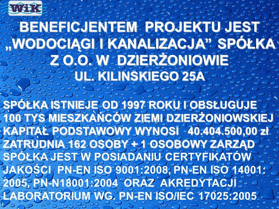 """""""WODOCIĄGI I KANALIZACJA SPÓŁKA Z O.O. W DZIERŻONIOWIE"""