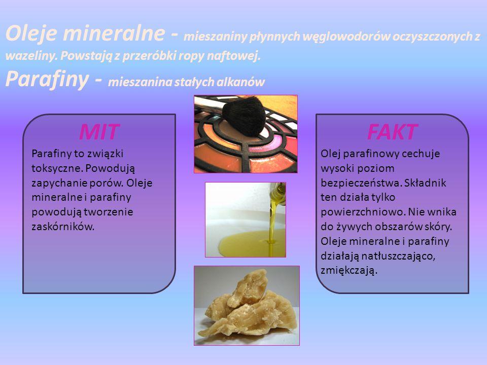 Parafiny - mieszanina stałych alkanów