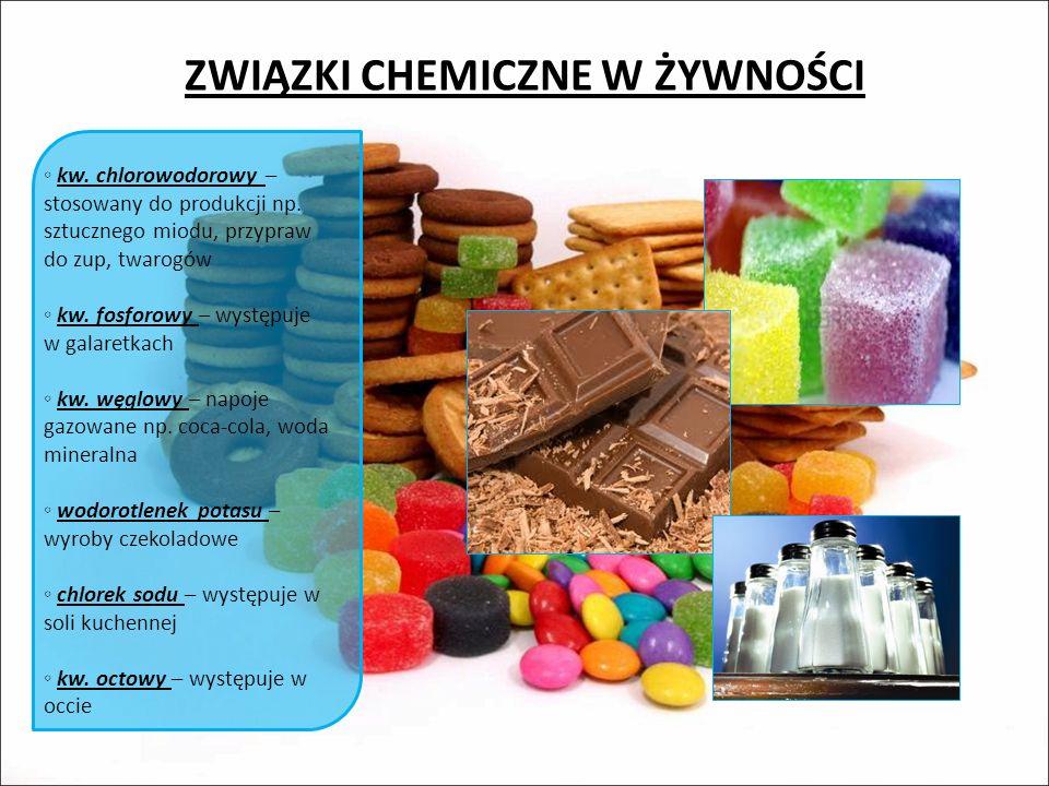 ZWIĄZKI CHEMICZNE W ŻYWNOŚCI