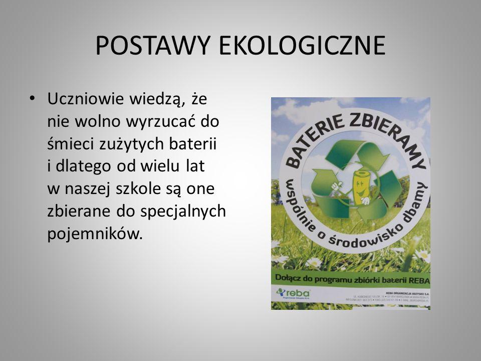 POSTAWY EKOLOGICZNE