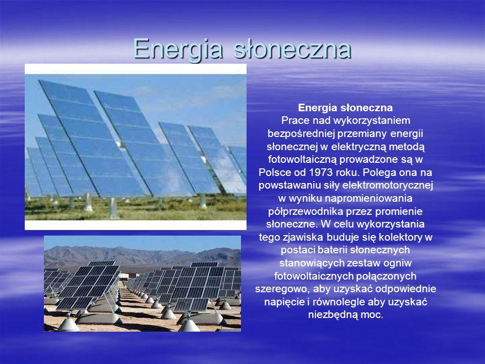 Energia słoneczna Energia słoneczna