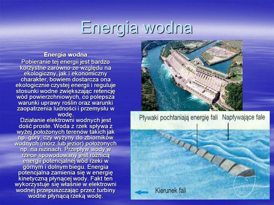 Energia wodna Energia wodna
