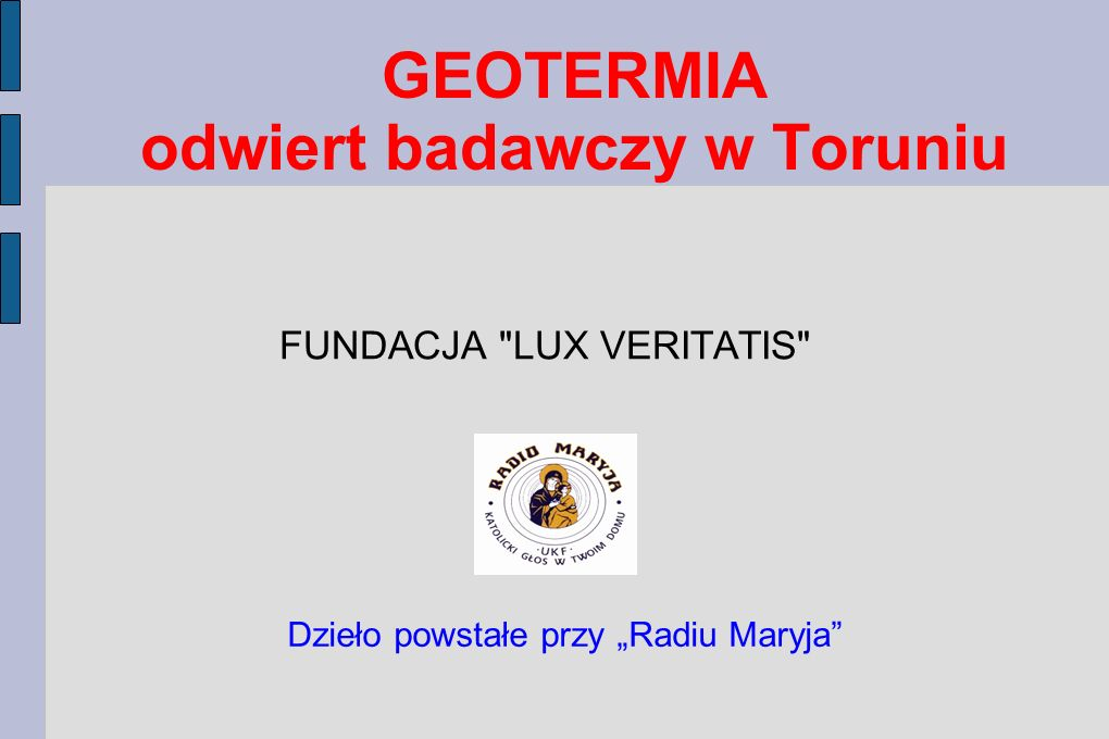 GEOTERMIA odwiert badawczy w Toruniu
