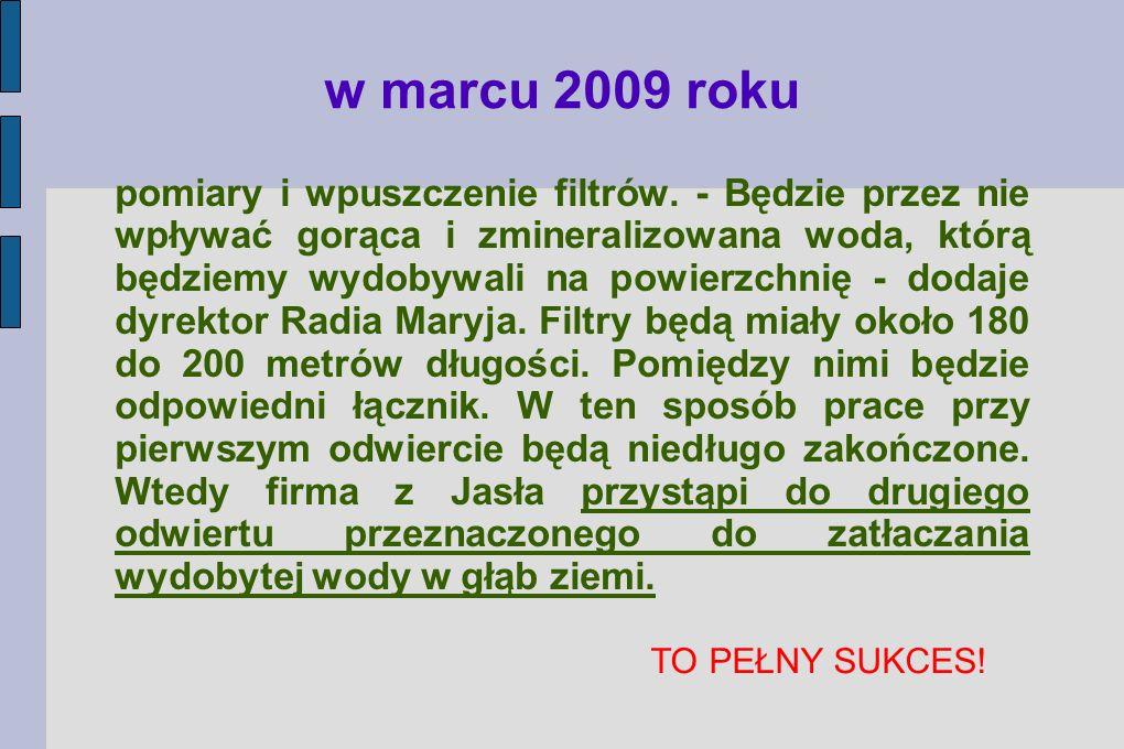 w marcu 2009 roku