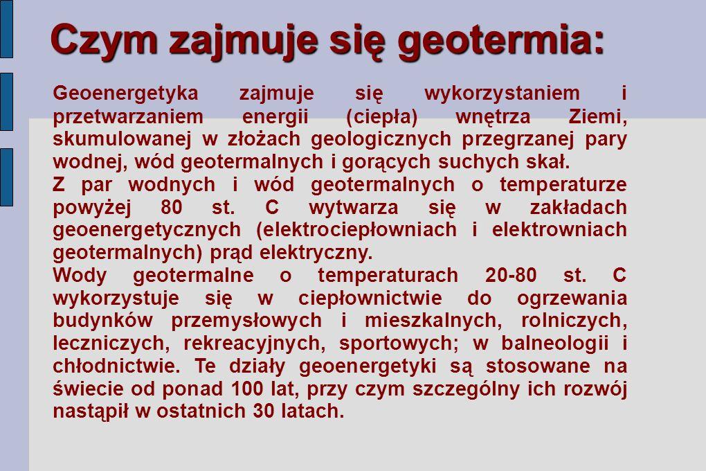 Czym zajmuje się geotermia: