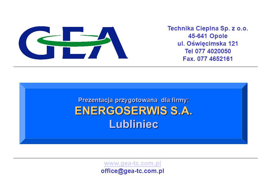 Technika Cieplna Sp. z o.o. Prezentacja przygotowana dla firmy: