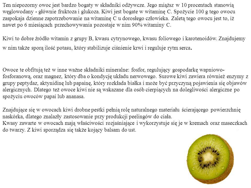 Ten niepozorny owoc jest bardzo bogaty w składniki odżywcze