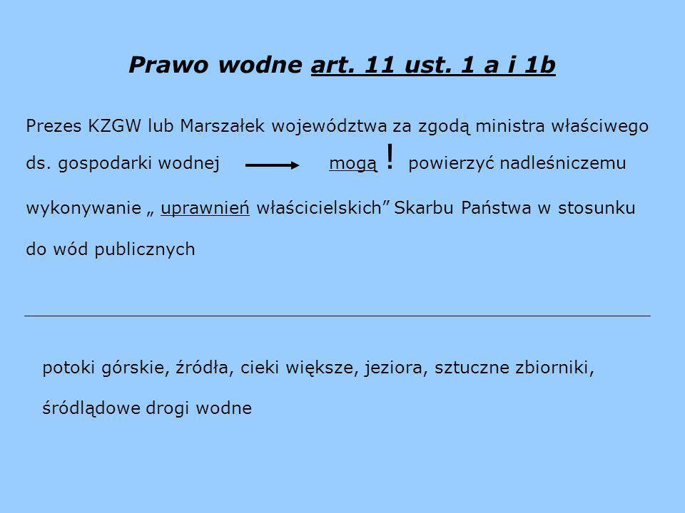 Prawo wodne art. 11 ust. 1 a i 1b Prezes KZGW lub Marszałek województwa za zgodą ministra właściwego.