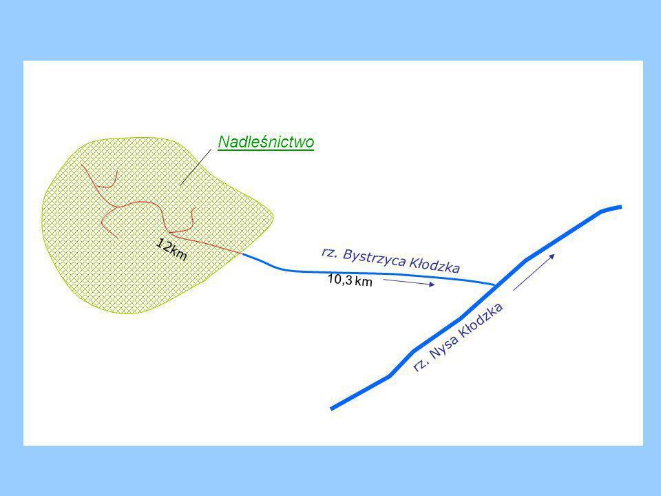 Nadleśnictwo 12km rz. Bystrzyca Kłodzka 10,3 km rz. Nysa Kłodzka