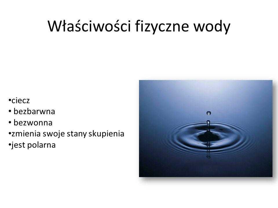 Właściwości fizyczne wody