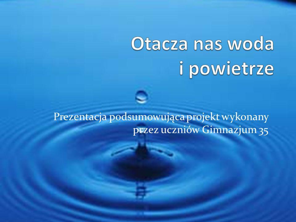 Otacza nas woda i powietrze