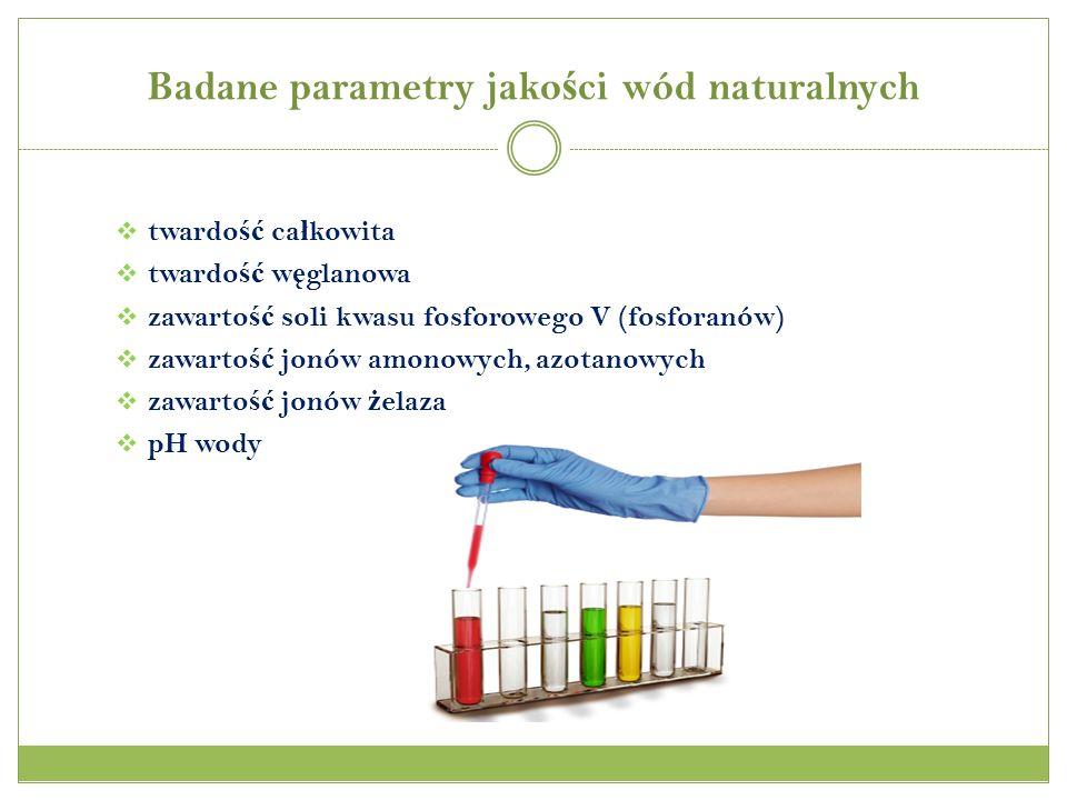 Badane parametry jakości wód naturalnych