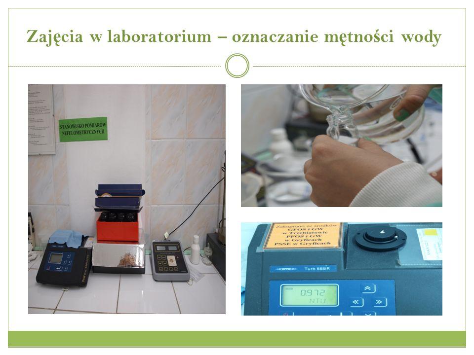 Zajęcia w laboratorium – oznaczanie mętności wody