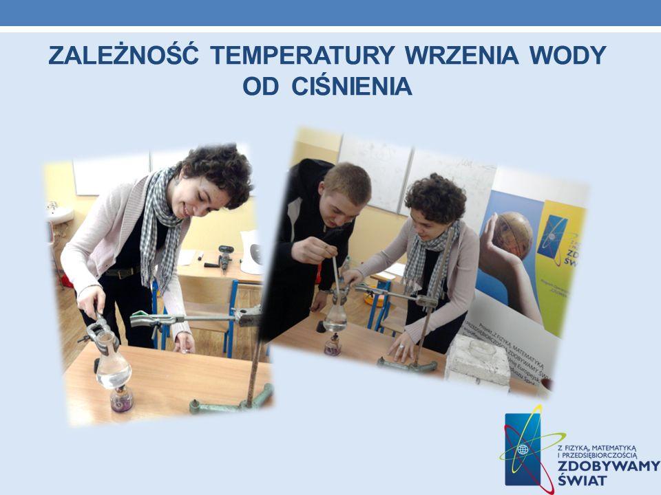Zależność temperatury wrzenia wody od ciśnienia