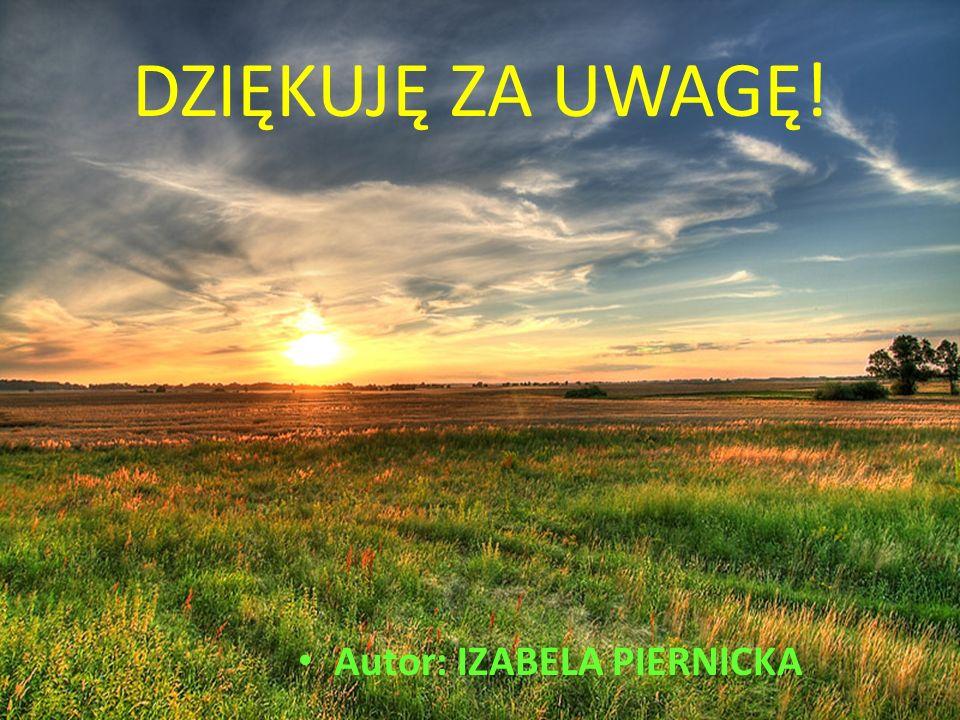 Autor: IZABELA PIERNICKA