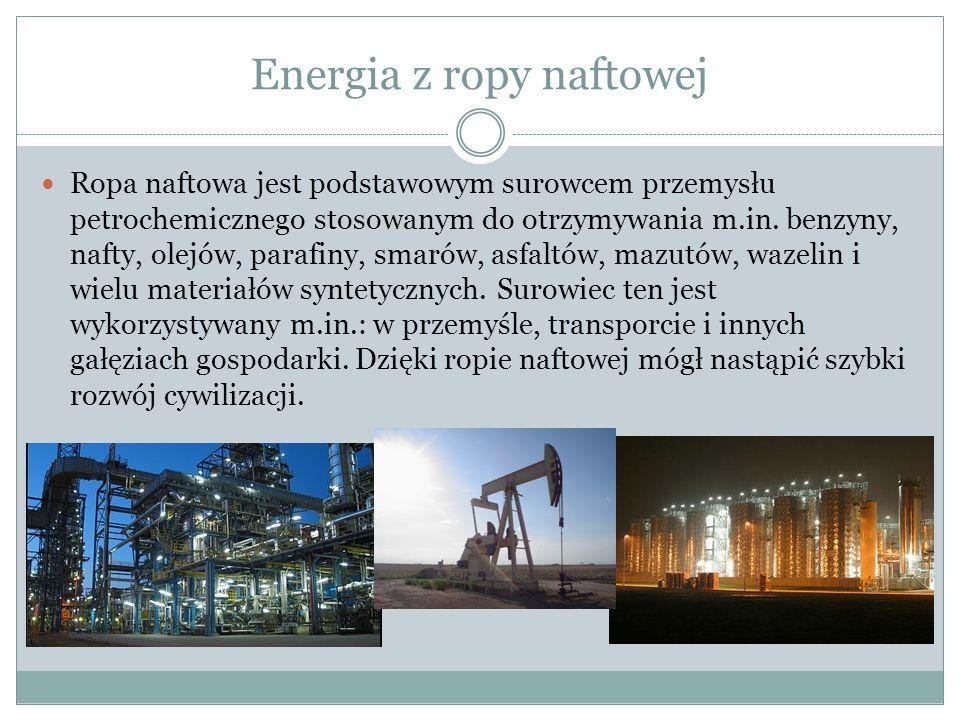 Energia z ropy naftowej