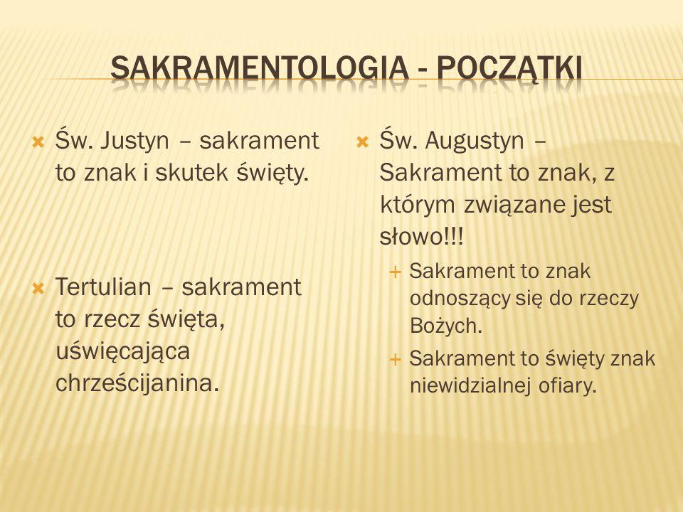 Sakramentologia - początki